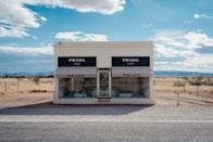 """<p>No shopping here! In Valentine, Texas, the faux <a href=""""https://www.ballroommarfa.org/archive/prada-marfa-an-explainer/"""" rel=""""nofollow noopener"""" target=""""_blank"""" data-ylk=""""slk:Prada Marfa"""" class=""""link rapid-noclick-resp"""">Prada Marfa</a> boutique on the side of a barren highway is an art installation by Michael Elmgreen and Ingar Dragset.</p>"""