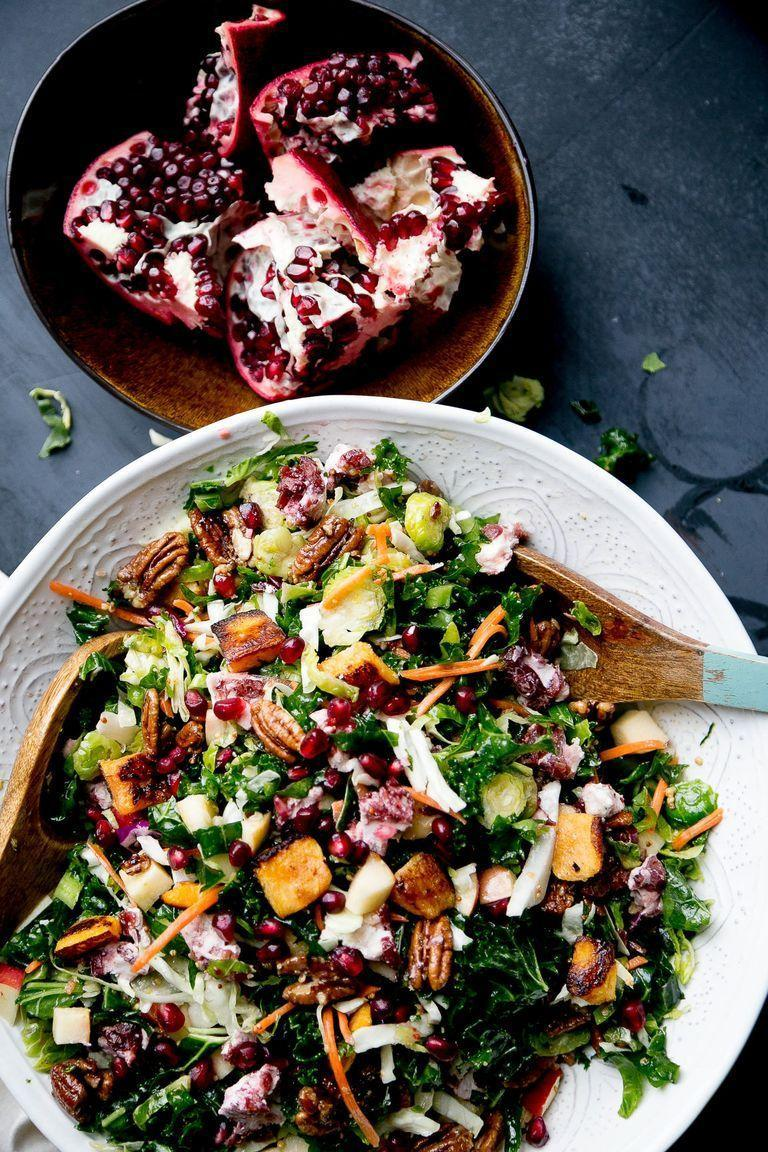"""<p>Pre-shredded veggies make this an easy (and colorful) addition to your holiday table. Feel free to use any leftovers you have on hand, like roasted squash, candied nuts, or cheese. </p><p><a href=""""https://www.thepioneerwoman.com/food-cooking/recipes/a104726/ultimate-winter-salad/"""" rel=""""nofollow noopener"""" target=""""_blank"""" data-ylk=""""slk:Get the recipe."""" class=""""link rapid-noclick-resp""""><strong>Get the recipe. </strong></a></p><p><a class=""""link rapid-noclick-resp"""" href=""""https://go.redirectingat.com?id=74968X1596630&url=https%3A%2F%2Fwww.walmart.com%2Fsearch%2F%3Fquery%3Dpioneer%2Bwoman%2Bserving%2Bspoons&sref=https%3A%2F%2Fwww.thepioneerwoman.com%2Ffood-cooking%2Fmeals-menus%2Fg36806222%2Ffall-salad-recipes%2F"""" rel=""""nofollow noopener"""" target=""""_blank"""" data-ylk=""""slk:SHOP SERVING SPOONS"""">SHOP SERVING SPOONS</a></p>"""