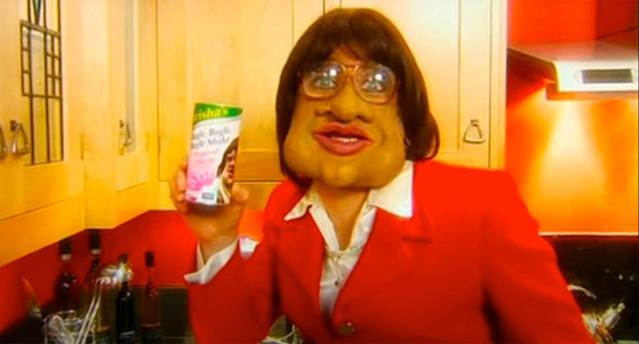 Leigh Francis as Trisha in a still from Bo Selecta. (Channel 4)