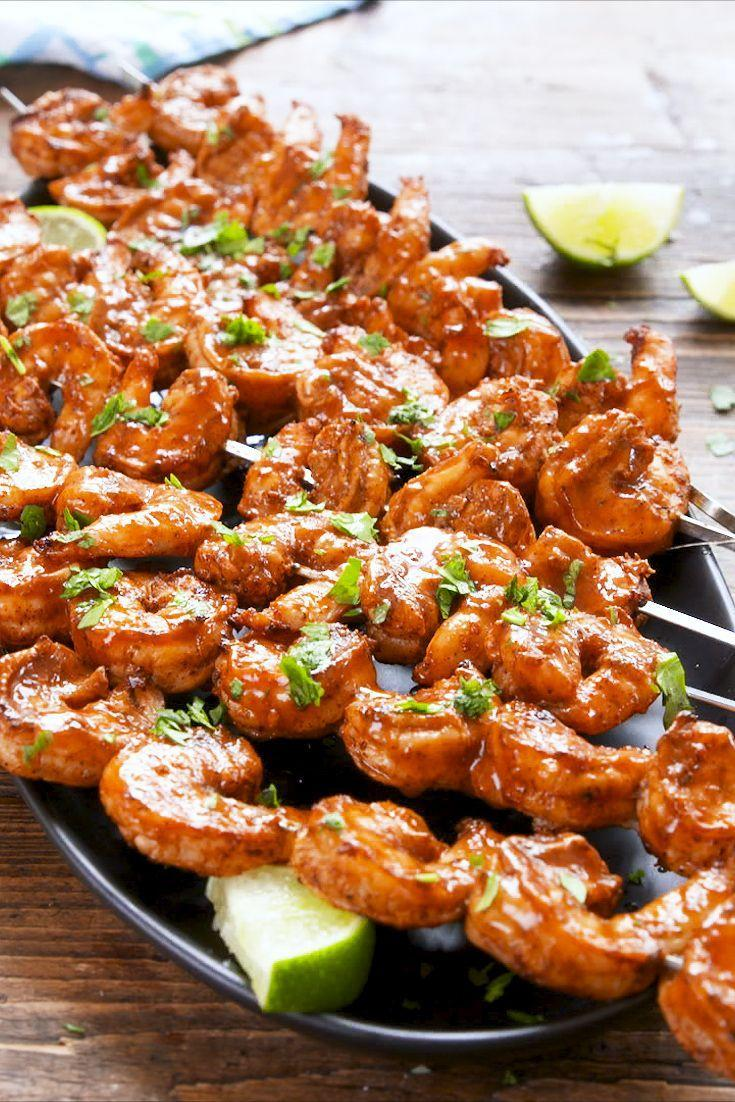 """<p>You might not think to put taco seasoning on <a href=""""https://www.delish.com/cooking/recipe-ideas/g2768/shrimp-recipes/"""" rel=""""nofollow noopener"""" target=""""_blank"""" data-ylk=""""slk:shrimp"""" class=""""link rapid-noclick-resp"""">shrimp</a>—but think again: Marinated in a mix of taco seasoning, enchilada sauce, and lime juice, these shrimp are seriously bangin'. </p><p>Get the recipe from <a href=""""https://www.delish.com/cooking/recipe-ideas/a20876774/taco-lime-shrimp-recipe/"""" rel=""""nofollow noopener"""" target=""""_blank"""" data-ylk=""""slk:Delish"""" class=""""link rapid-noclick-resp"""">Delish</a>.</p>"""