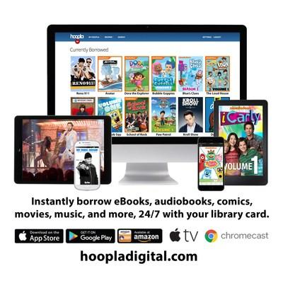 "hoopla digital offers a ""Kids Mode"" feature, which families can use to search and access kid-friendly titles any time."