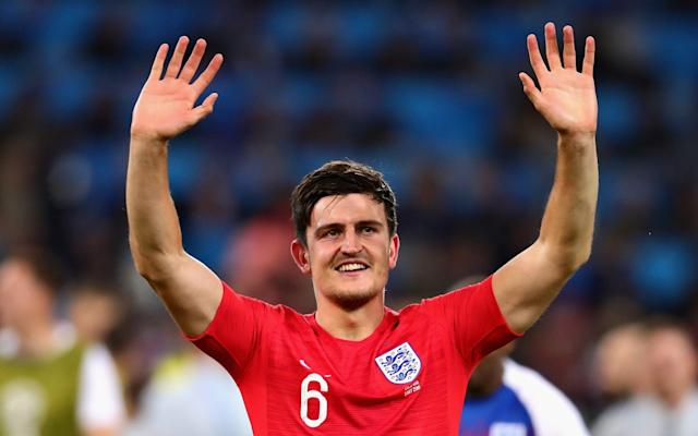 """From standing with his mates at Euro 2016 to playing in a World Cup semi-final on Wednesday, Harry Maguire is a man emboldened by having Three Lions on his shirt. Emerging as one of England's most reliable defenders, Maguire has admirers at the Premier League's top table yet still possesses the air of a man who has won a cereal packet competition to play for his country. Last week he was interviewed by the FA's YouTube channel and gave a word-perfect rendition of 'We're On Our Way', the England soundtrack which has followed the team around Russia. If the Leicester centre-half was not playing against Sweden last weekend, he would probably be in Samara watching from the terraces with his parents, brothers Laurence and Joe, sister Daisy, girlfriend Fern, and his mates. Maguire epitomises the new era of """"good tourists"""" flourishing under Gareth Southgate and personifies the change in mentality that is winning hearts and minds. Harry Maguire is a born and bred Blades fan Credit: PA Craig Shakespeare, his former manager at Leicester and the man who signed him from Hull City, recalls a story from last summer which perfectly captures Maguire's grounded personality. """"He was identified as our main transfer target and shortly after the end of the season he was on a city break in Majorca with his family and I went out to meet him,"""" Shakespeare told Telegraph Sport. """"We had lunch and I told him the club's plans, what I thought of him and how he could improve. """"I knew Leicester was the right club for him in terms of his personality. He really grew on me in the meeting, with all the questions he was asking about the style of play and Leicester as a football club. """"I thought this kid could go far so I was really pleased we could seal the deal because there were other clubs chasing him. He could have gone to Spurs but chose Leicester."""" England World Cup 2018 