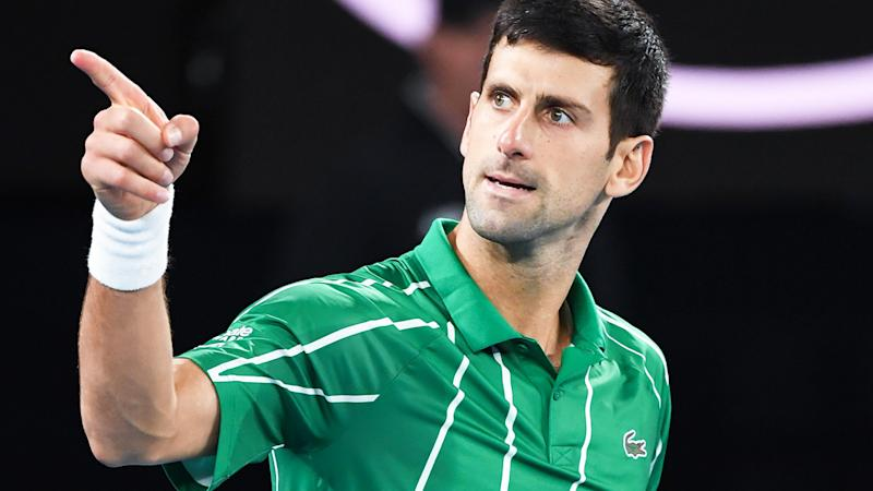 Novak Djokovic, pictured here in action at the Australian Open in January.