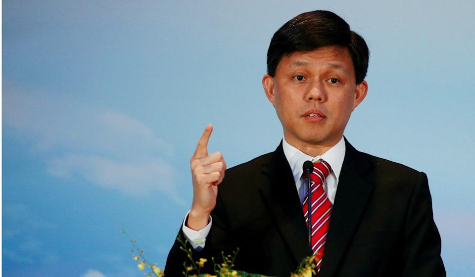 Singapore's Trade and Industry Minister Chan Chun Sing has given a breakdown of Singaporeans and permanent residents in the workforce. Photo: Reuters
