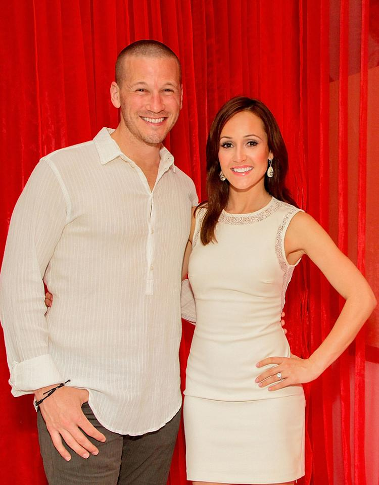 CANCUN, MEXICO - MAY 25:  The Bachelorette's JP Rosenbaum and Ashley Hebert celebrate their one-year anniversary at ME Cancun Rose Bar at ME Cancun Resort on May 25, 2012 in Cancun, Mexico.  (Photo by Victor Chavez/Getty Images for Me Cancun)