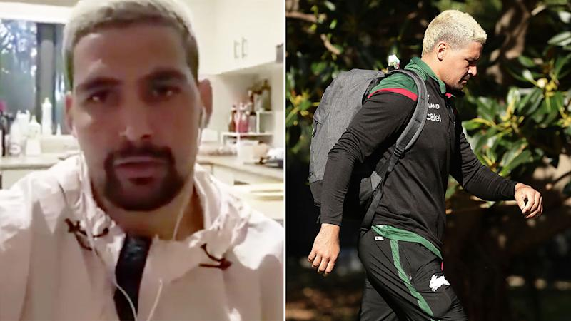 Pictured here, Rabbitohs star Cody Walker is being investigated over a fight in December 2019.