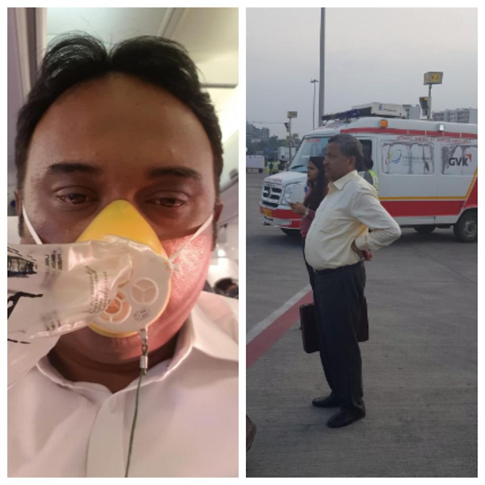Passengers bled from the nose and ears following the incident (Satish Nair/Twitter)