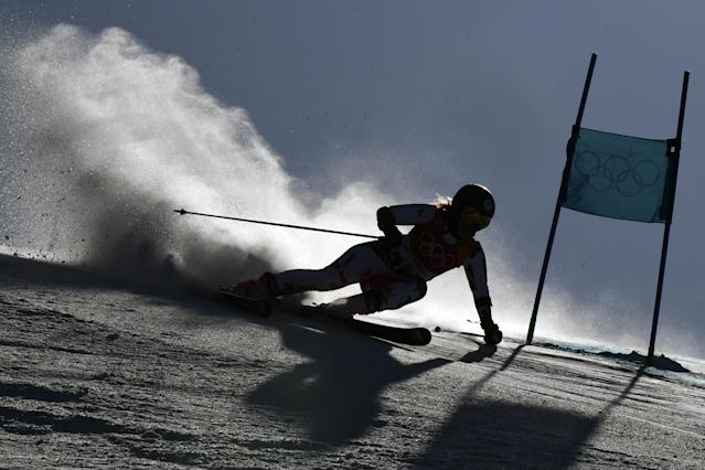 <p>Czech Republic's Katerina Paulathova competes in the Women's Giant Slalom at the Yongpyong Alpine Centre during the Pyeongchang 2018 Winter Olympic Games in Pyeongchang on February 15, 2018. / AFP PHOTO / FRANCOIS XAVIER MARIT </p>