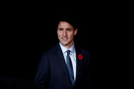 Canadian Prime Minister Justin Trudeau arrives to attend a visit and a dinner at the Orsay Museum in Paris