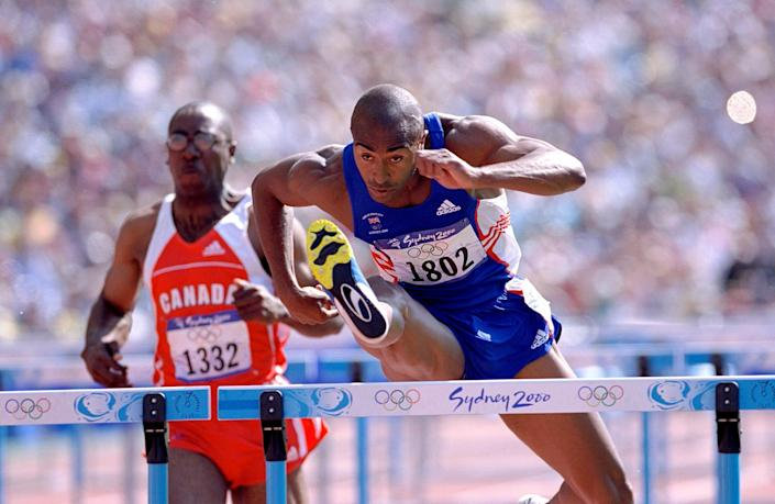 Colin Jackson at Sydney 2000 (Getty Images)