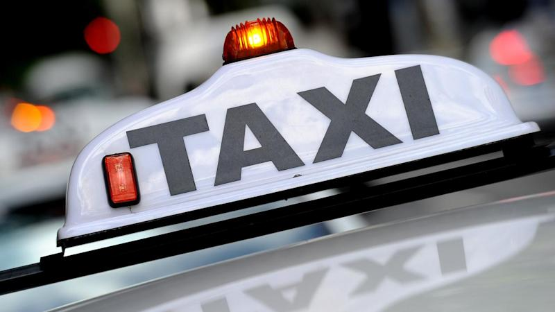 A taxi driver has been injured in an alleged hit-and-run by the driver of a stolen car in Melbourne.