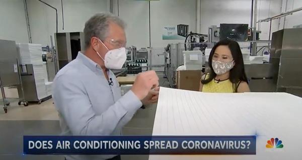 NBC News Lester Hold News Featured Camfil Air Filtration Expert Steve Devine:Vicky Nguyen from NBC News Interviewed Steve Devine V. P. Research and Development. Watch the Video to learn more.