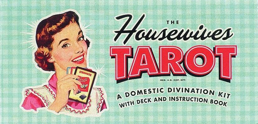 "<h2>The Housewives Tarot: A Domestic Divination Kit</h2><br>Mysticalcraft Arriana says that this deck is her ""fun and very retro"" go-to deck. She says that over time, you begin to ""feel"" each card you pull and are less reliant on imagery to interpret the cards — which is when a playful, less-symbol-heavy deck like this can start to come in handy. ""It reminds us to step back, <a href=""https://www.refinery29.com/en-us/breathing-exercises-for-anxiety"" rel=""nofollow noopener"" target=""_blank"" data-ylk=""slk:breathe and relax"" class=""link rapid-noclick-resp"">breathe and relax</a>, and have a giggle at life,"" she says.<br><br><br><strong>Quirk Books</strong> The Housewives Tarot: A Domestic Divination Kit, $, available at <a href=""https://go.skimresources.com/?id=30283X879131&url=https%3A%2F%2Fbookshop.org%2Fbooks%2Fthe-housewives-tarot-a-domestic-divination-kit%2F9781931686990%3Faid%3D4934"" rel=""nofollow noopener"" target=""_blank"" data-ylk=""slk:Bookshop"" class=""link rapid-noclick-resp"">Bookshop</a>"
