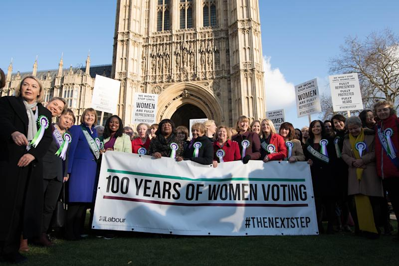 <strong>Female MPs mark 100 years since the Representation of the People Act</strong> (PA Wire/PA Images)