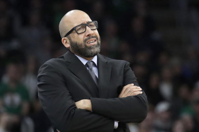 David Fizdale may end up taking the blame for this bad Knicks team. (AP Photo/Elise Amendola)