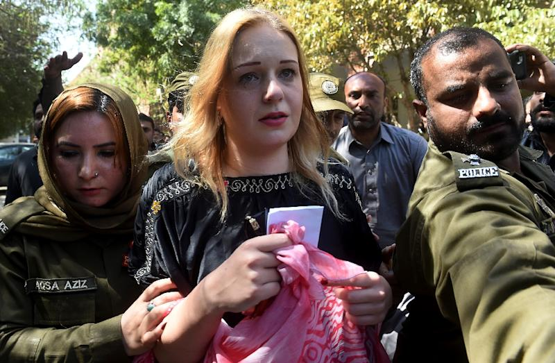 Tereza Hluskova's lawyer said the model will appeal against the decision to jail her (AFP Photo/ARIF ALI)