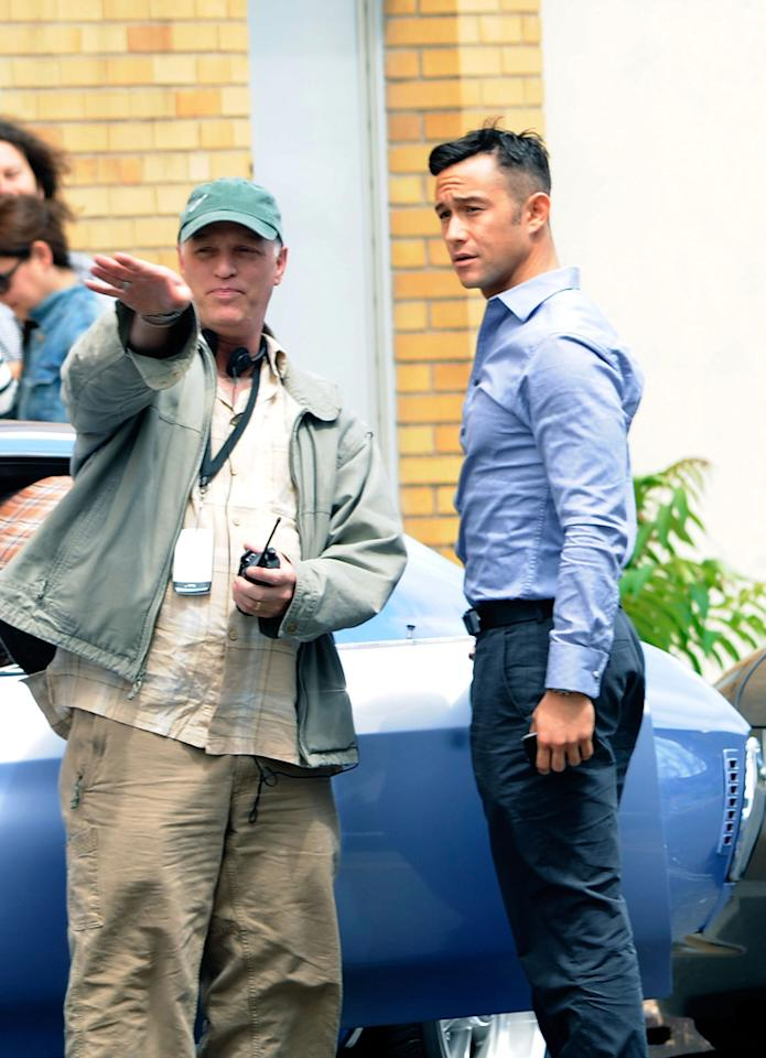 "Joseph Gordon-Levitt filming on location for ""Don Jon's Addiction"" on June 26, 2012 in Hackensack, New Jersey."