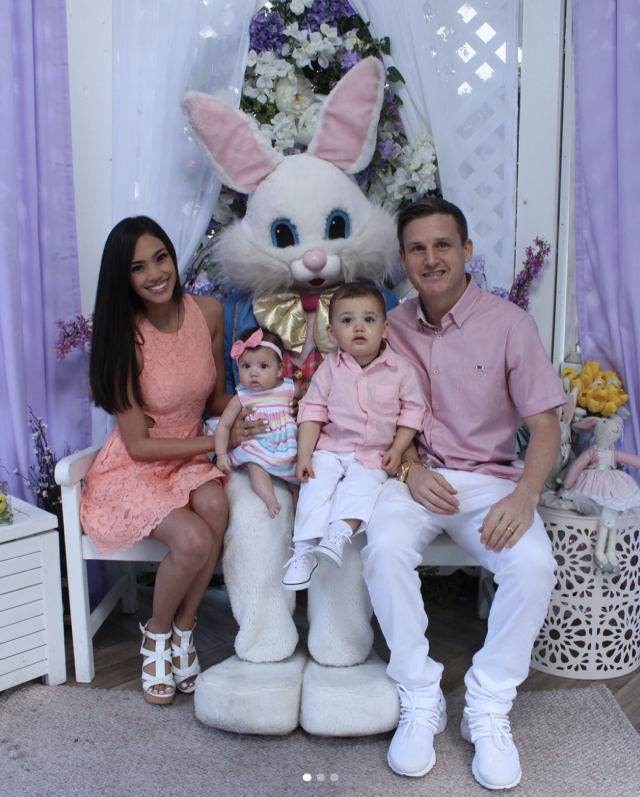 "<p>""The Dyrdek Family will forever be passionate about holiday photos and matching outfits,"" the <em>Ridiculousness</em> host captioned this festive photo with his wife, kids, and a giant bunny to celebrate Easter 2018. (Photo: <a href=""https://www.instagram.com/p/BgwY_3VB89B/?taken-by=robdyrdek"" rel=""nofollow noopener"" target=""_blank"" data-ylk=""slk:Rob Dyrdek via Instagram"" class=""link rapid-noclick-resp"">Rob Dyrdek via Instagram</a>) </p>"