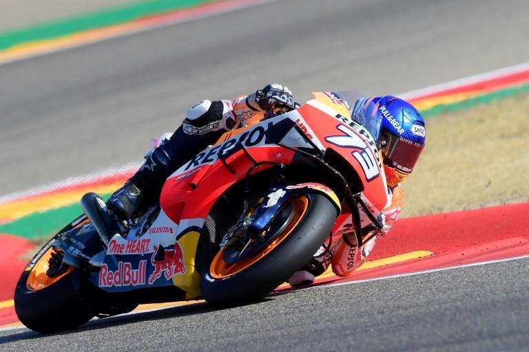 Repsol Honda Team's Spanish rider Alex Marquez fastest in free practice opening session