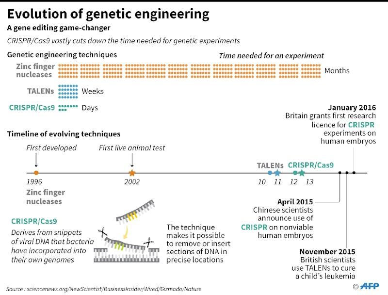 How new gene-editing technique CRISPR/Cas9 vastly cuts down the time needed for genetic engineering experiments