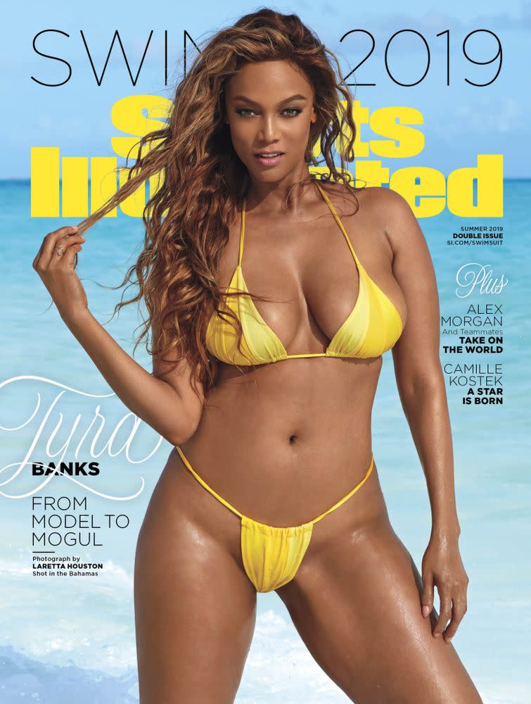 Tyra Banks posing during her 2019 Sports Illustrated Swimsuit photo shoot in Great Exuma, Bahamas. Laretta Houston/SPORTS ILLUSTRATED   Laretta Houston/SPORTS ILLUSTRATED