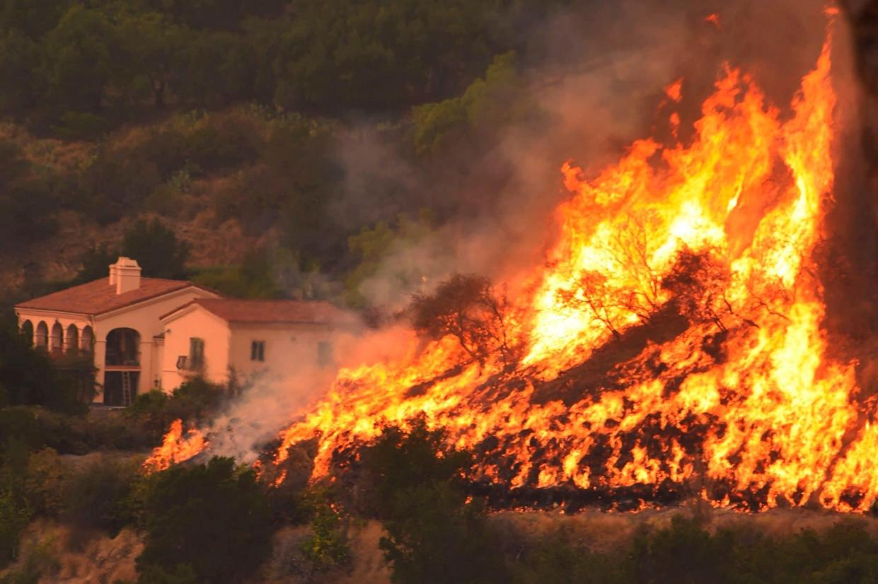 California wildfire the largest in the state's recorded history - Mike Eliason/Santa Barbara County Fire Department/AP