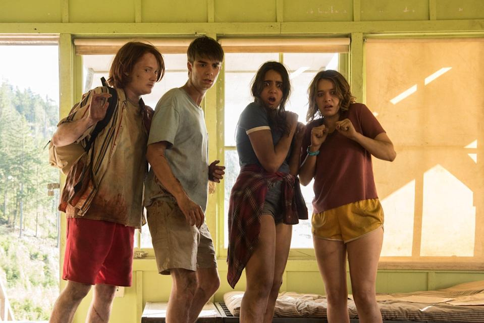"""<p>This comedy tells the story of a spring break camping trip gone wrong. When a teen faces an unfortunate accident, his friends do everything they can to save him.</p> <p>Watch <a href=""""https://www.netflix.com/title/80175147"""" class=""""link rapid-noclick-resp"""" rel=""""nofollow noopener"""" target=""""_blank"""" data-ylk=""""slk:The Package""""><strong>The Package</strong></a> on Netflix now.</p>"""