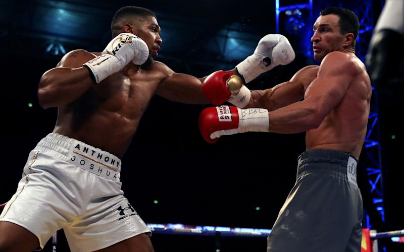 Anthony Joshua v Wladimir Klitschko - - Credit: Nick Potts/PA