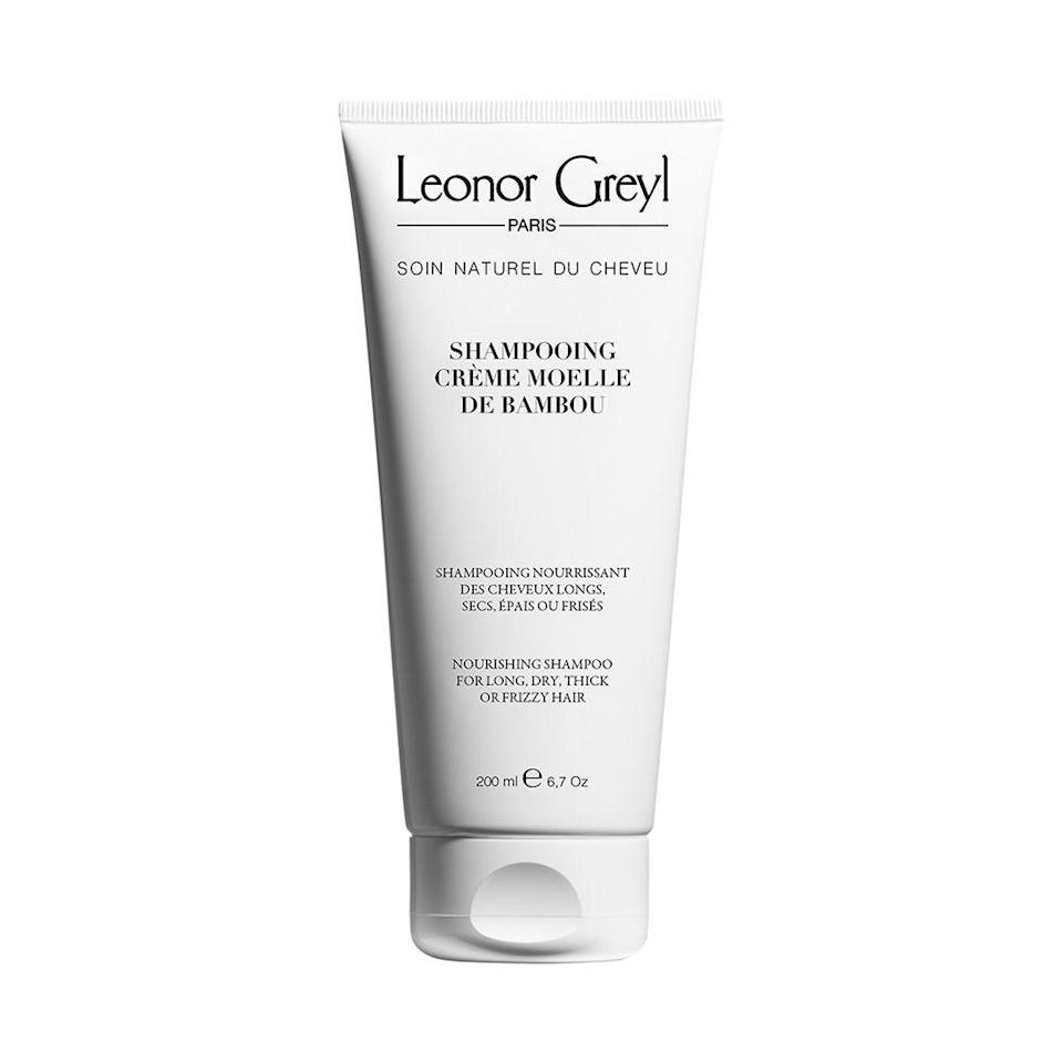 "<p><strong>leonor greyl</strong></p><p>leonorgreyl-usa.com</p><p><strong>$55.25</strong></p><p><a href=""https://www.leonorgreyl-usa.com/store/shampooing-creme-moelle-de-bambou/"" rel=""nofollow noopener"" target=""_blank"" data-ylk=""slk:Shop Now"" class=""link rapid-noclick-resp"">Shop Now</a></p><p>Revive dry ends with a luxe nourishing shampoo. Silk proteins and bamboo extracts work to deliver essential oils and vitamins for silky smooth hair. <br></p>"