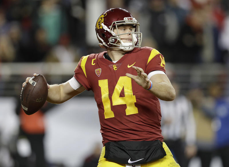 Sam Darnold won't put his arm on a big display for NFL talent evaluators until March 21, at USC's pro day. (AP)