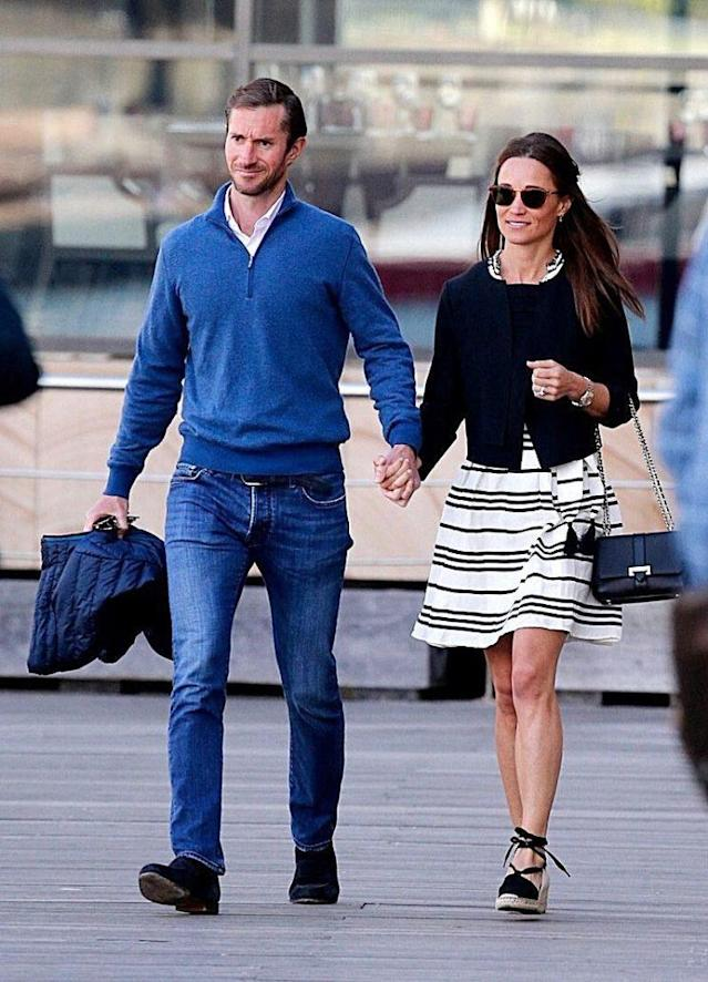Pippa Middleton and James Matthews pictured in Sydney for the second part of their honeymoon. (Photo: Rex)