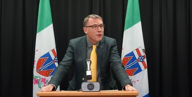 Minister of Community Services Richard Mostyn said during update that Yukon's high vaccination rates make the territory one of the safest jurisdictions in Canada. (Claudiane Samson/Radio-Canada - image credit)