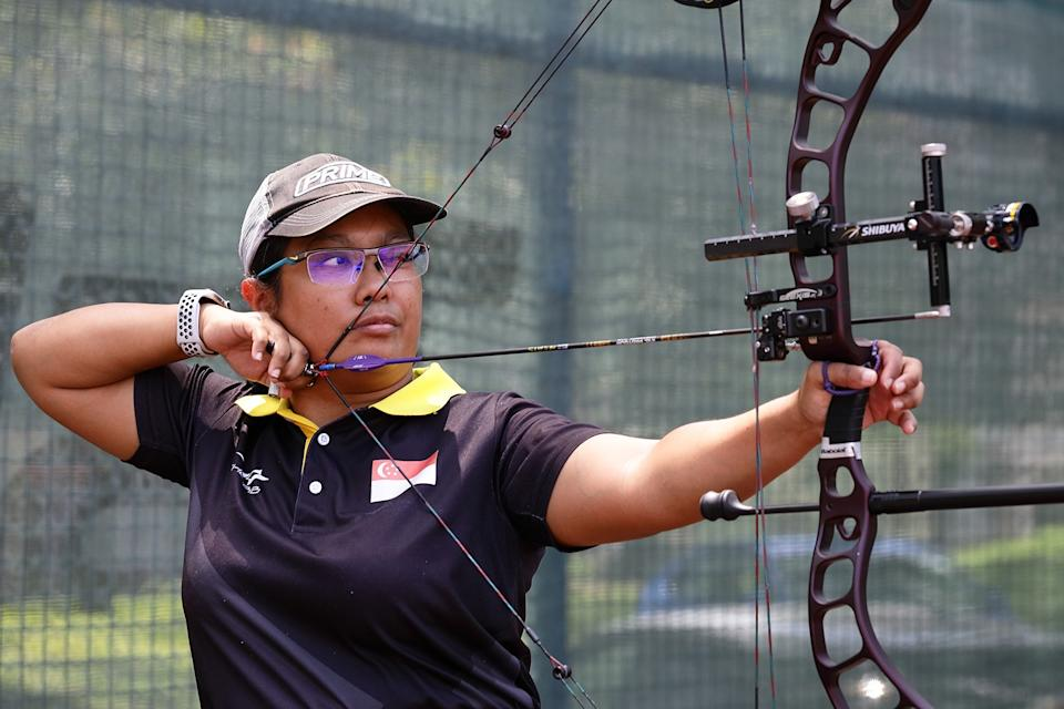 Singapore para-archer Nur Syahidah Alim, who will be taking part at the Tokyo Paralympics. (PHOTO: Singapore Disability Sports Council)