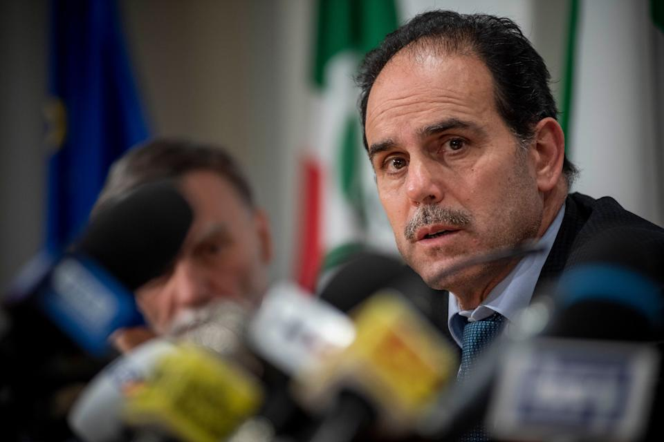 "ROME, ITALY - FEBRUARY 13: Andrea Marcucci attends a press conference organized by the Democratic Party about ""A Plan for Italy"", on February 13, 2020, in Rome, Italy. (Photo by Antonio Masiello/Getty Images) (Photo: Antonio Masiello via Getty Images)"