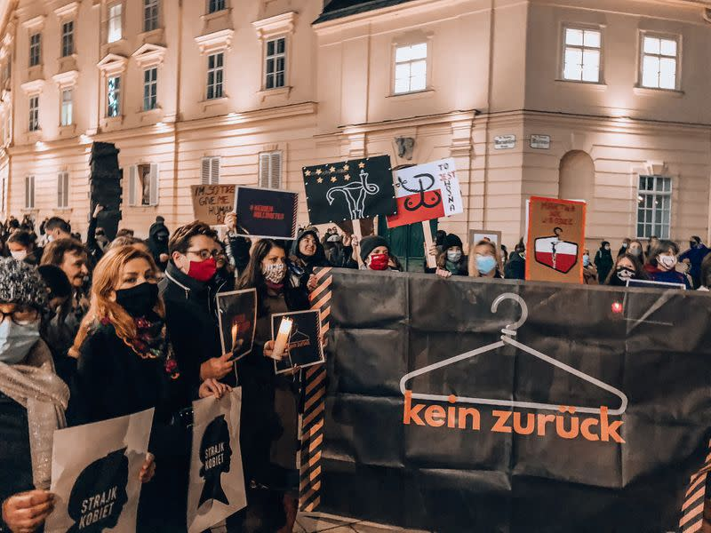 Protest against Poland's Constitutional Tribunal ruling on abortion, in Vienna