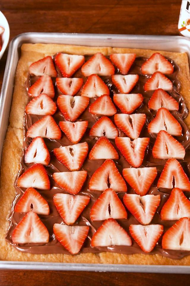 "<p>For when the Nutella craving hits hard.</p><p>Get the recipe from <a rel=""nofollow"" href=""http://www.delish.com/cooking/recipe-ideas/recipes/a58635/nutella-strawberry-crescent-recipe/"">Delish</a>.</p><p><strong><em>BUY NOW: Quarter Sheet Tray, $9.50, <a rel=""nofollow"" href=""https://www.amazon.com/Gridmann-Commercial-Aluminium-Cookie-Quarter/dp/B01DA84WV6/?tag=delish_auto-append-20&ascsubtag=[artid