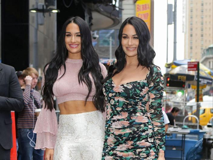 Nikki and Brie Bella Share Stunning Pics From Their Nude Maternity Photoshoot | wgrz.com