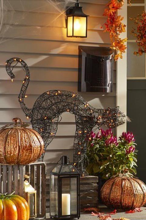 """<p>$90</p><p><a rel=""""nofollow"""" href=""""https://www.wayfair.com/Penn-Distributing-Lighted-Spooky-Cat-Halloween-Decoration-PEND1211.html"""">BUY NOW</a></p><p>If you ask us, black cats are seriously underrated. This one (with an arched spine no less) comes with pre-lit orange lights<span> that'll make a statement on your stoop come nightfall.</span></p>"""