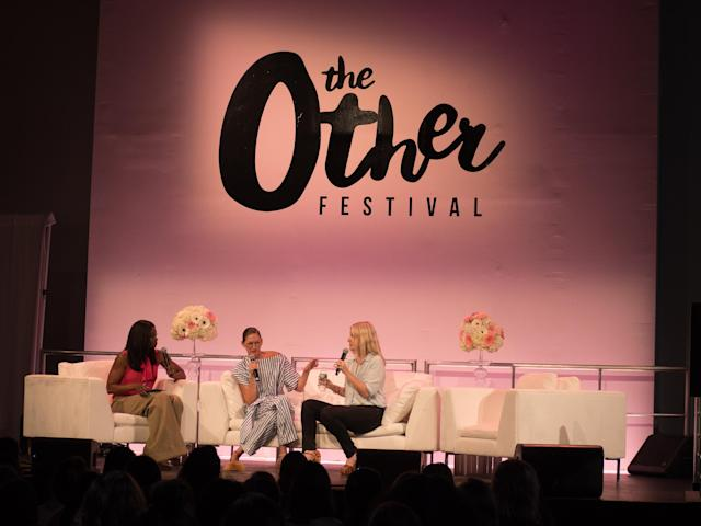 From left, Lola Ogunnaike, Jenna Lyons, and Laura Brown at the Other Festival. (Photo: Simply Ric Sechrest Photography)