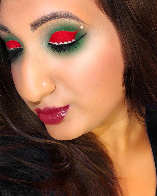 """<p>Give your peepers some holly, jolly flair with this sweet Santa hat art. </p><p><a class=""""link rapid-noclick-resp"""" href=""""https://www.amazon.com/NYX-PROFESSIONAL-MAKEUP-Vivid-Brights/dp/B01EMTAI7E/?tag=syn-yahoo-20&ascsubtag=%5Bartid%7C10050.g.34534998%5Bsrc%7Cyahoo-us"""" rel=""""nofollow noopener"""" target=""""_blank"""" data-ylk=""""slk:SHOP RED LIQUID EYELINER"""">SHOP RED LIQUID EYELINER</a></p><p><a href=""""https://www.instagram.com/p/B6OzV_sgAHh/?utm_source=ig_embed&utm_campaign=loading"""" rel=""""nofollow noopener"""" target=""""_blank"""" data-ylk=""""slk:See the original post on Instagram"""" class=""""link rapid-noclick-resp"""">See the original post on Instagram</a></p>"""