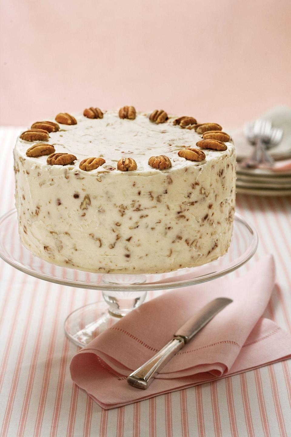 "<p><strong>Recipe: </strong><a href=""https://www.southernliving.com/syndication/italian-cream-cake-2"" rel=""nofollow noopener"" target=""_blank"" data-ylk=""slk:Italian Cream Cake"" class=""link rapid-noclick-resp""><strong>Italian Cream Cake</strong></a></p> <p>This old-fashioned cake recipe has been a reader go-to for decades, whether for birthdays or holidays. One reader who hadn't baked it in a while said, ""I forgot how truly delicious this cake is.""</p>"