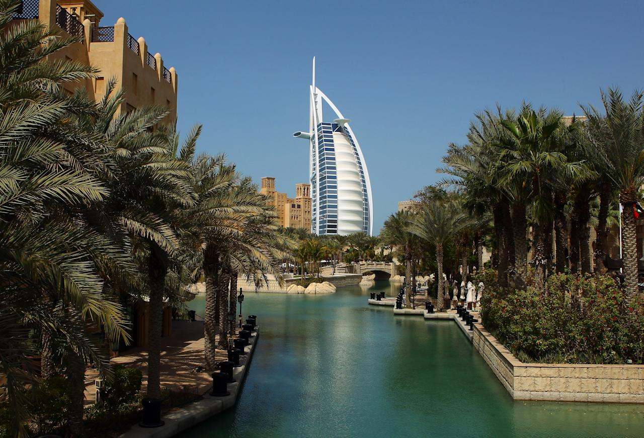 DUBAI, UNITED ARAB EMIRATES - FEBRUARY 25:  The Burj Al Arab, a 7 star hotel, is seen on February 25, 2012 in Dubai, United Arab Emirates.  (Photo by Julian Finney/Getty Images)
