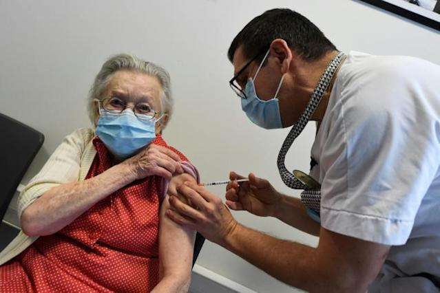 France began its vaccination campaign on Sunday along with most of the rest of the EU, targeting residents in care homes first