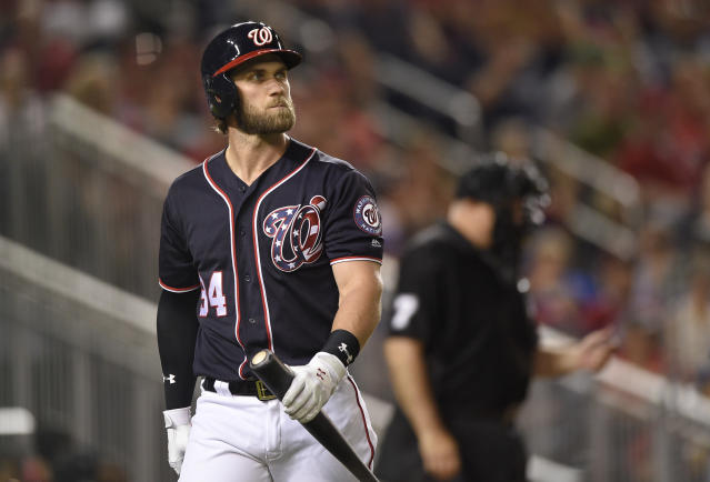 Bryce Harper wants to walk away from the Nationals as a champion. (AP Photo)