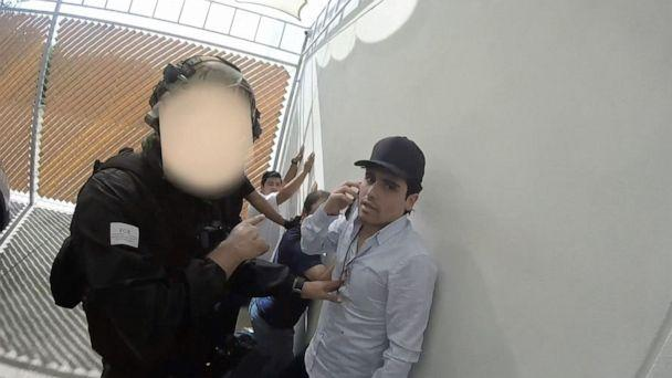 PHOTO: In this screenshot taken from a handout video, Ovidio Guzman, son of Joaquin 'Chapo' Guzman, is arrested. The faces of the security forces have been digitally altered to protect their identities. (SEDENA Mexico)