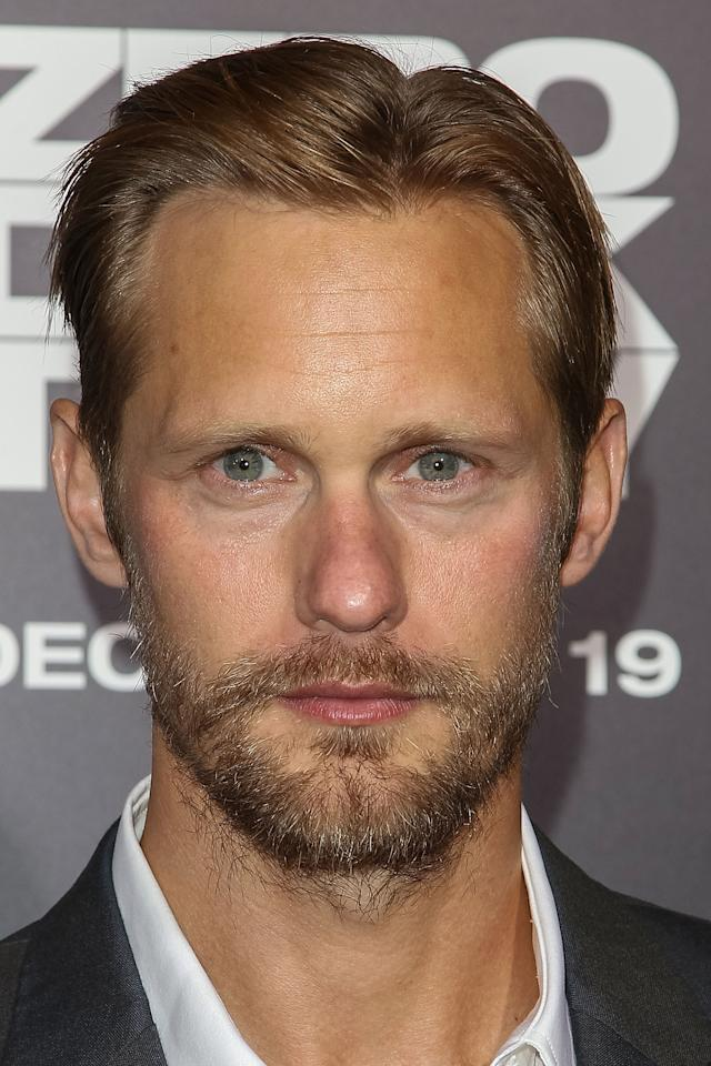 """HOLLYWOOD, CA - DECEMBER 10:  Actor Alexander Skarsgard arrives at the premiere of Columbia Pictures' """"Zero Dark Thirty"""" held at the Dolby Theatre on December 10, 2012 in Hollywood, California.  (Photo by Paul A. Hebert/Getty Images)"""