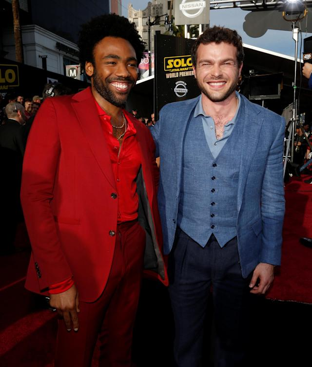 Donald Glover and Alden Ehrenreich (Photo: REUTERS/Mario Anzuoni)