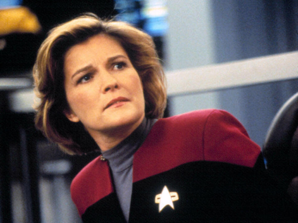 Kate Mulgrew als Captain Janeway (Bild: imago images/Everett Collection)