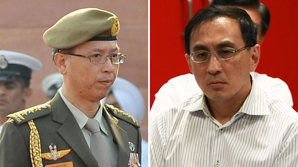 Former chief of defence force Neo Kian Hong (left) will take over from current SMRT CEO Demond Kuek on 1 August. (PHOTOS: Getty Images / Yahoo News Singapore)
