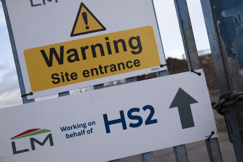 HS2 construction site in Birmingham. Credit: Mike Kemp/In Pictures via Getty Images